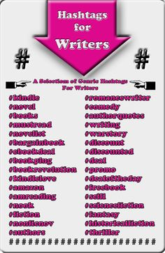 Using hashtags on Twitter - something every book marketer should know #writingtips