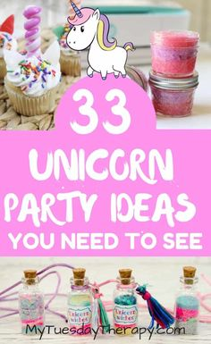Host a spectacular Unicorn Birthday Party with these amazing Unicorn Party Ideas your daughter will love. Cool ideas from invitations to party favors. Unicorn Party Invites, Unicorn Themed Birthday Party, Rainbow Unicorn Party, Party Invitations, Party Favors, Birthday Party Games For Kids, Birthday Activities, First Birthday Parties, Party Games For Tweens