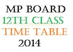 MP Board 12th Time Table 2014 | mpbse.nic.in 12th Class Date Sheet 2014