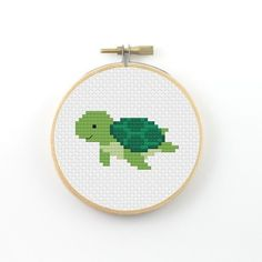 Reptile turtle cross stitch.