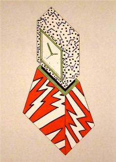 """George J. Sowden  """"Drawing for Clock""""  1981 // MONDOBLOGO"""