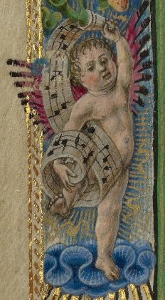 Putto from The Annunciation  Taddeo Crivelli, about 1469