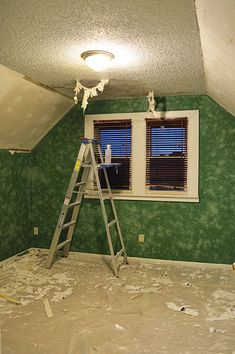 How To Remove Popcorn Ceilings And Repair Damaged Drywall From Http Www