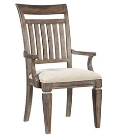 Brownstone Village Slat Back Arm Chairs - Set of 2 - Kitchen & Dining Room Chairs at Hayneedle