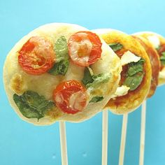 Pizza pops! Goes to show you can put just about anything on a stick and make it more fun.
