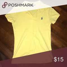Ralph Lauren Polo Short Sleeve Yellow Ralph Lauren Polo w Dark Blue Polo Emblem Ralph Lauren Tops Tees - Short Sleeve
