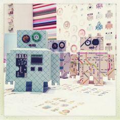 DIY Robotjes van Papier | Studio Ditte