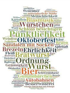 Deutschland Poster mit Stereotypen