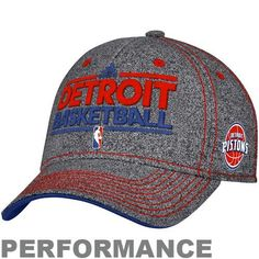 NBA adidas Detroit Pistons Authentic Performance Practice Graphic Flex Hat e8abb908a8a9