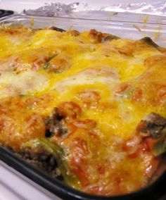 Stuffed Chili Relleno Casserole - Peppers makes your metabolism speed up! Great dish for Cinco de Mayo not too spicy, just right!