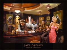 "Chris Consani, ""Java Dreams"" (I love this pics with the old stars...especially the ones that include Bogart and/or Clark Gable)"