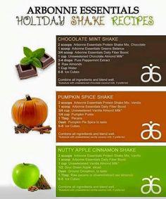 Arbonne Essentials. Holiday Shake Recipes. Shop at: jessicahoskins.arbonne.com