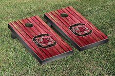 South Carolina Gamecocks Weathered Wood w/ Logo Cornhole Board & Bag Set