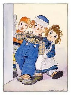 an illustration from John Barton Gruelle's Raggedy Ann and Andy stories Vintage Children's Books, Vintage Cards, Hood Books, Ann Doll, Children's Book Illustration, Book Illustrations, Raggedy Ann And Andy, Pintura Country, Holly Hobbie