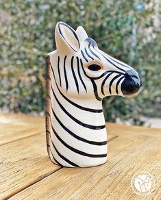 "Vase ""Zebra"" Keramik Vase, Giraffe, Animals, Objects, Summer, Felt Giraffe, Animales, Animaux, Giraffes"
