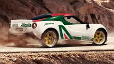 What happens when you cross Alfa and Lancia sports cars together? Alitalia-liveried joy, that's what