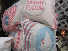 feedsack pillows