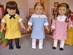 The pattern has three collars, sleeves with cuffs and belts from which to choose. with a few 'tweaks', some interesting little dresses can be had.