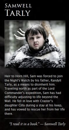 Samwell Tarly Game Of Thrones Facts, Game Of Thrones Dragons, Got Game Of Thrones, Game Of Thrones Quotes, Game Of Thrones Funny, Valar Morghulis, Valar Dohaeris, Daenerys Targaryen, Cersei Lannister