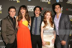 Actors Colton Haynes, Crystal Reed, Tyler Posey, Holland Roden and Tyler Hoechlin arrive at the series premiere of MTV's 'Teen Wolf' at The Roosevelt Hotel on May 25, 2011 in Los Angeles, California.