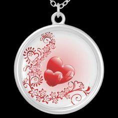 #Love #Ornamental #Hearts - #Necklaces © #Bluedarkat - on #Zazzle!