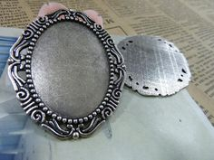 25 OFF 12pcs 30x40mm Antique Silver Oval Bezel Cup by JuanGao, $9.00