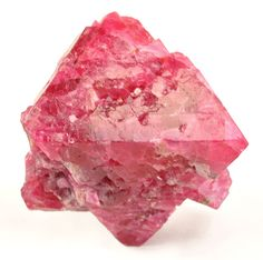 A HUGE spinel locale unusual hot pink red color The central crystal