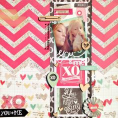 #papercraft #scrapbook #layout - You & me by Danielle de Konink at @Studio_Calico