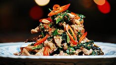 Beef Tossed with Wild Betel Leaf and Lemongrass - Bo Xao La Lot