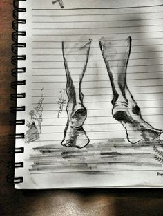 As the time passes by... i fear of u stepping away !!! feet sketch, blackandgrey, illustration, going away