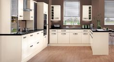 Strata Gloss Cream Kitchen Units - Magnet Kitchens To Suit All Budgets