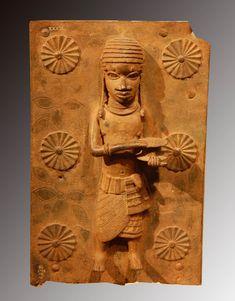 Benin plaque de laiton cour royal  British  Museum
