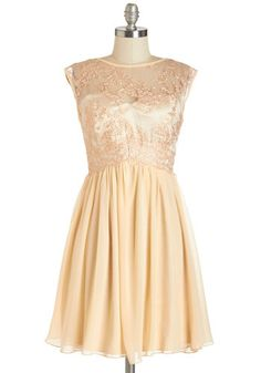 Peaches and Dreamy Dress - Blush, Embroidery, Trim, Special Occasion, Prom, Party, A-line, Sleeveless, Summer, Woven, Better, Scoop, Mid-length, Lace, Pink, Pastel, Wedding, Bridesmaid, Homecoming