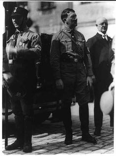 Hitler looking incredibly dapper and thin here with a more form-fitting uniform than usual. This is 1929. (via putschgirl)