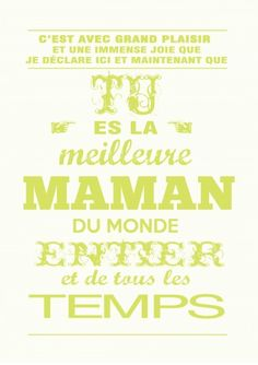 maman,carte fete des mamans,cadeau de fête des mères,carte fête des mères,à imprimer,à encadrer,vert