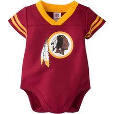 NFL Washington Redskins Baby Boys Mesh Dazzle Bodysuit - Walmart.com 31385c765