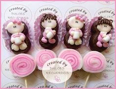 Marshmallow pop, cute for Baby Shower