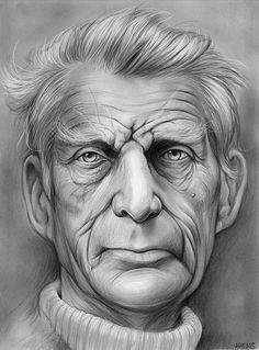Samuel Beckett by gregchapin on DeviantArt