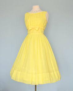 Vintage 1960s Cocktail Dress...Sophisticated Lemon by deomas