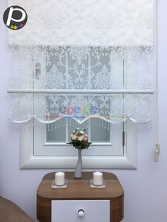 Çiftli Sistem - Tül Stor Perde - Yakma Zemin - Damask Desenli Lace Curtain Panels, Curtains And Draperies, Lace Curtains, Custom Curtains, French Country Curtains, Beautiful Blinds, Decorative Panels, House Windows, Curtain Designs