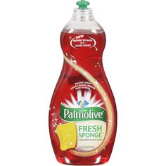 Palmolive Fresh Sponge    Quick Take:  Nice fresh scent.  Usage Tips:  Little went a long way.    The Verdict:  Like the fresh scent and the usage will go far. Added bonus of keeping sponges fresh as well. Will use again.    Dual Action formula cleans dishes and washes away odor causing residue.