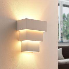 Antonella - effektvolle LED-Wandlampe aus Gips Jetzt bestellen unter: https://moebel.ladendirekt.de/wohnzimmer/tv-hifi-moebel/tv-waende/?uid=5c6c75ff-991f-5d78-b342-9a8172eef222&utm_source=pinterest&utm_medium=pin&utm_campaign=boards #leuchten #tvwaende #wohnzimmer #tvhifimoebel Bild Quelle: www.lampenwelt.de