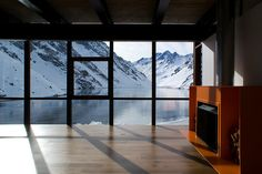 Located on the Andes mountains in Chile, the Mountain Refuge Chalet was created by architecture firm DRN architects.