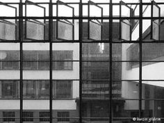 Bauhaus - Dessau (W. Classical Architecture, Historical Architecture, Amazing Architecture, Landscape Architecture, Interior Architecture, Bauhaus Style, Walter Gropius, Ludwig Mies Van Der Rohe, Interior Windows