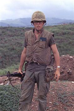 "Marine Robert Drieslein at PB "" CaLu "" in Vietnam Vietnam History, Vietnam War Photos, South Vietnam, Vietnam Veterans, Military Veterans, Marine Corps History, Us Marine Corps, Military History, American War"