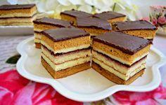 N-are cum să nu vă placă prăjitura dungată cu foi caramel și pandișpan, este atât de bună, cu o combinație perfectă de ingrediente, care cucerește instant. Romanian Desserts, Romanian Food, Sweets Recipes, Cake Recipes, Cooking Recipes, Hungarian Recipes, Food Cakes, Cake Cookies, Sweet Treats