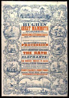 Hughes Circus   19th century theatre posters   V