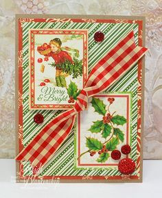 The Stamp Simply Ribbon Store - 12 Days of CAS Christmas - Merry