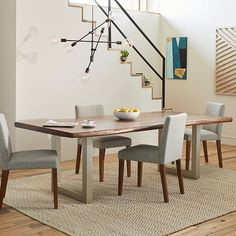 Live Edge Wood Dining Table | west elm