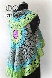 Resultado de imagem para crochet circle vest